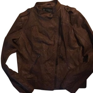 Guess Camel brown Leather Jacket