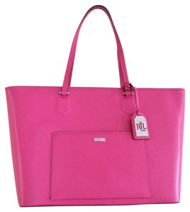 Ralph Lauren Hot Pink Tote in Lt Azalea