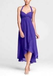 David's Bridal Regency (Purple) Chiffon F15417 Formal Bridesmaid/Mob Dress Size 6 (S)