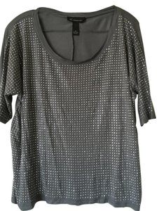 INC International Concepts Embellished Studs Hardware Flowing Top Silver