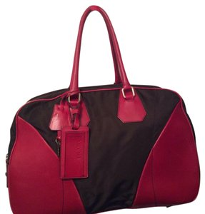 Prada Satchel in Red And Brown