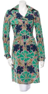 Stella McCartney Silk Floral Trench Coat