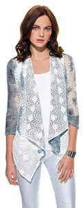 Alberto Makali Knit Cardigan Lace Tye-dye Grey Jacket