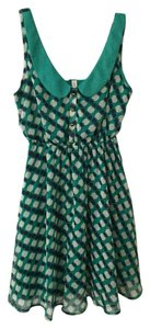 Xhilaration short dress Polka Dot Print Chic Empire Waist on Tradesy