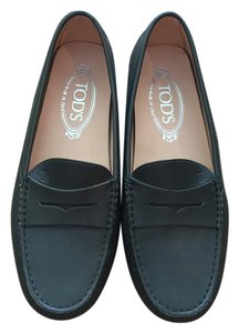 Tod's Tods Driving Shoe Dark Green Flats