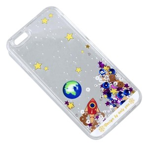 Other BRAND NEW Fun Liquid Planet Space Floating in Water Clear Hard Case Protective iPhone 6 Cover 5.5 Inch