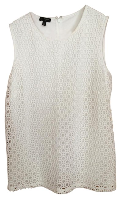 Preload https://img-static.tradesy.com/item/15849568/talbots-white-lace-night-out-top-size-petite-6-s-0-1-650-650.jpg