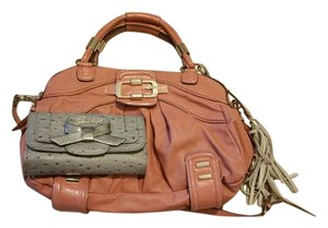 Guess Satchel in pink and gray