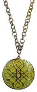 Yellow Design Pendant Necklace