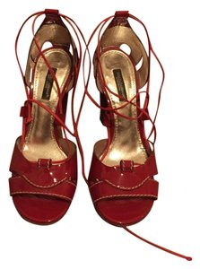 Dolce&Gabbana Lacquer Summer Sandle Red Pumps