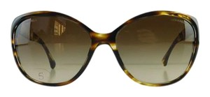 Chanel Gently Used Chanel Sunglasses 5309-B c. 1498/S5 Havana Rhinestone Acetate Brown Gradient Full-Frame Made in Italy 59mm