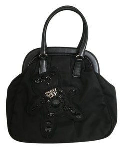 Prada Mini Beading Satchel in Black