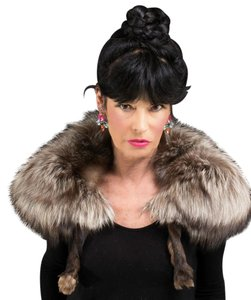 Saga Furs LOVELY SILVER FOX COLLAR with legs Collar Cape Wrap Stole