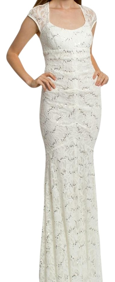 Camille La Vie White With Silver Sequins Lace Dress on Tradesy - photo #41