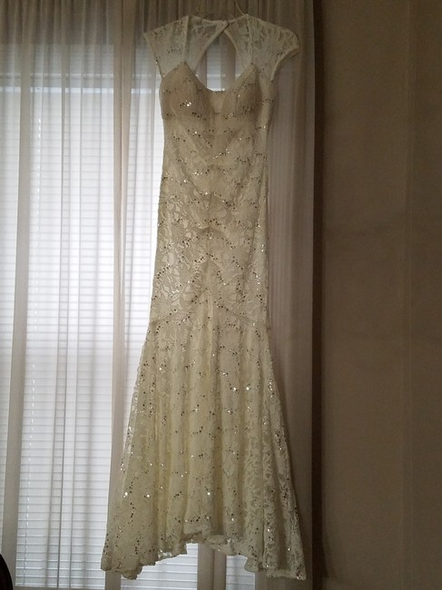 Camille La Vie White With Silver Sequins Lace Dress on Tradesy - photo #9