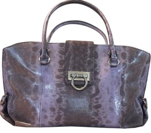 Salvatore Ferragamo Satchel in Lavender/Gray