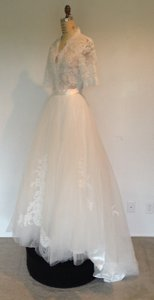 Lace Sheer Sexy 2peice Tulle Skirt Wedding Dress