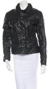 J Brand Reid Leather Dark slate/black Leather Jacket