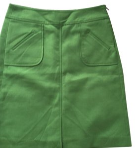 Banana Republic A-line Casual Skirt Kelly Green