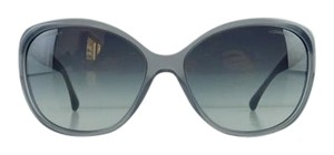 Chanel Gently Used Chanel Sunglasses 5309-B c. 1467/S6 Gray Blue Rhinestone Acetate Gradient Full-Frame Made in Italy 59mm
