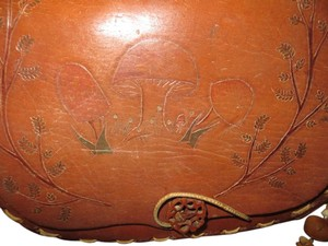 Hippy Boho Mushroom Tooled Shoulder Bag