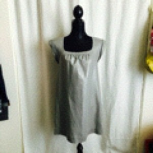 Lux short dress Silver on Tradesy