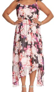 Pink and Black Maxi Dress by Lane Bryant Floral Maxi