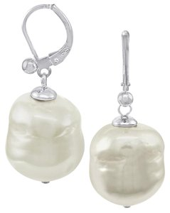 Majorica LIKE NEW! Majorica 12 mm Simulated Baroque Pearl Drop Earrings