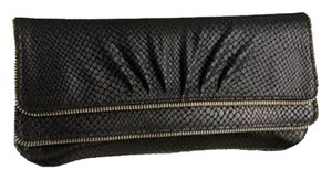 Lauren Merkin Leather Black Clutch