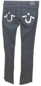 True Religion Dark Wash Straight Leg Jeans-Dark Rinse