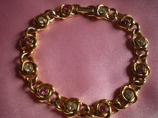 Other Like new Goldtone w/crystals bracelet