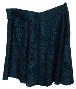 Charlotte Russe Lace Lacey Skirt Teal