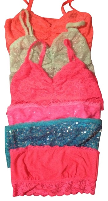 Item - Mint Green Orange Hot Sky Blue and Light The Bandeau Lace Bralette Tunic Size 6 (S)