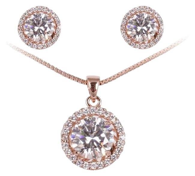 Clear Fashion Plaza Women's Basket Set Cubic Zircon Cz and Earring Set S95 Necklace Clear Fashion Plaza Women's Basket Set Cubic Zircon Cz and Earring Set S95 Necklace Image 1