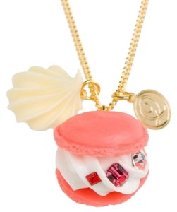 Q pot Q-pot pink Macaron Necklace New Q pot japan