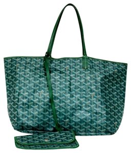 Goyard Canvas Monogram Shopper Tote in Green