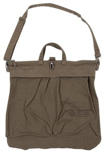 Alpha Industries Laptop Military Aviator Satchel in washed olive