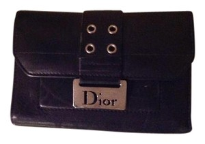 Dior Christian Dior Street Chic black leather wallet