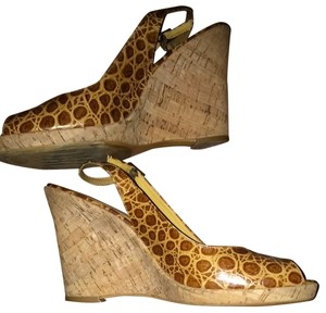Via Spiga Cognac Wedges
