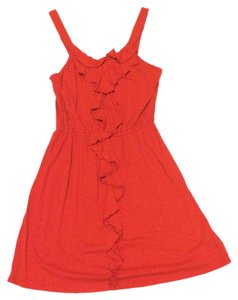 Express short dress Red Ruffle on Tradesy