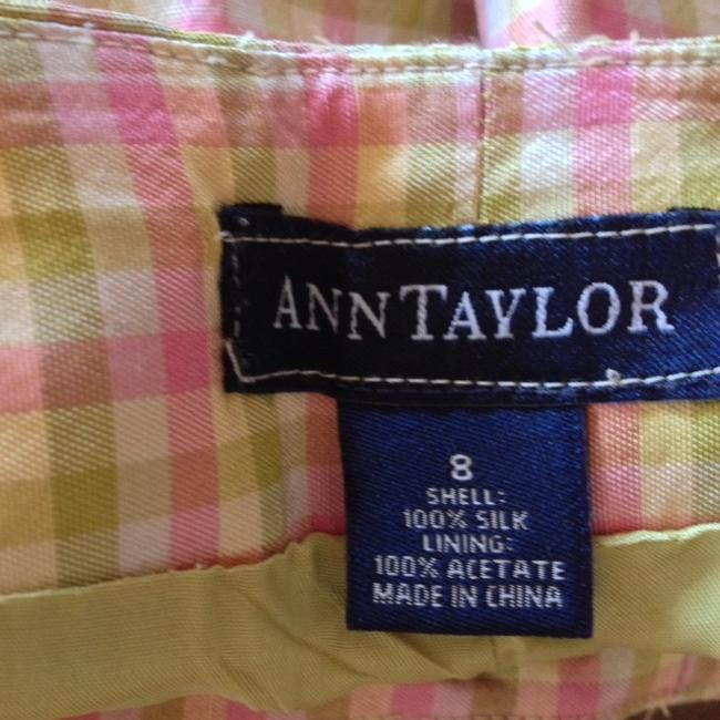 Ann Taylor Straight Pants pastels-pink, yellow,green
