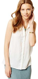 Anthropologie Cloth&stone Flowy Anthro Top White