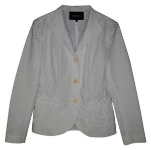 Lafayette 148 New York White Cotton Lightweight Jacket