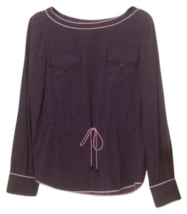 Zac Posen Silk Top Purple