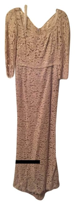 Item - Cream Dolce & Gabbana Lace Gown Long Formal Dress Size 4 (S)