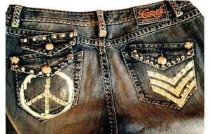 Coogi Size 12 Boot Cut Jeans-Light Wash