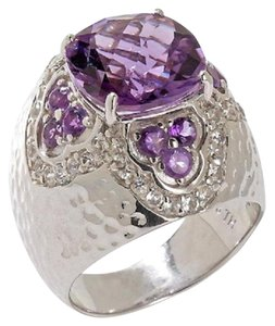Sima K Sima K 4.83ct Amethyst and White Topaz Sterling Silver Ring - Size 8