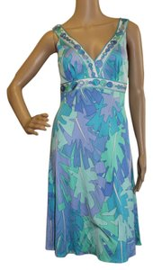 Emilio Pucci Summer Silk Multicolor Dress