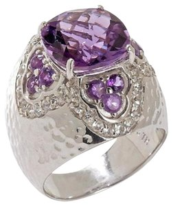 Sima K Sima K 4.83ct Amethyst and White Topaz Sterling Silver Ring - Size 9