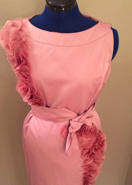 Max Mara Formal Pink Ruffles Dress